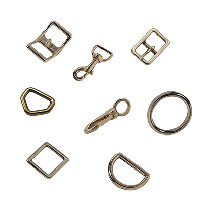 Accessoires bronze sellerie et maroquinerie